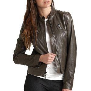 Vince Motocross Leather Jacket